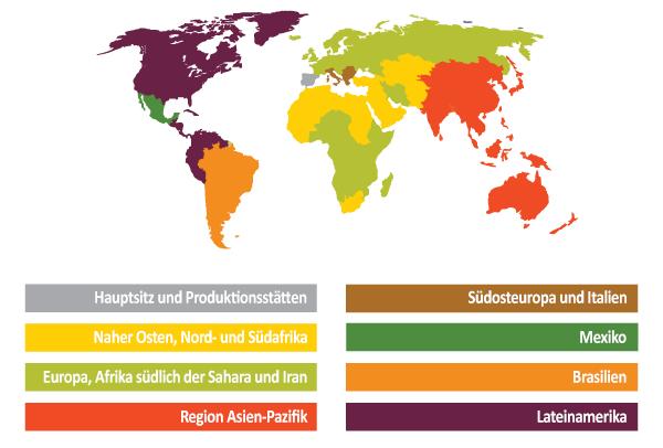 Tradecorp weltweit